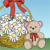 Valentine coloring page – teddy bear