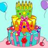 Birthday Cake Coloring Game