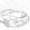Kid's coloring: Beautiful car