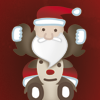 Santa Claus gift rush